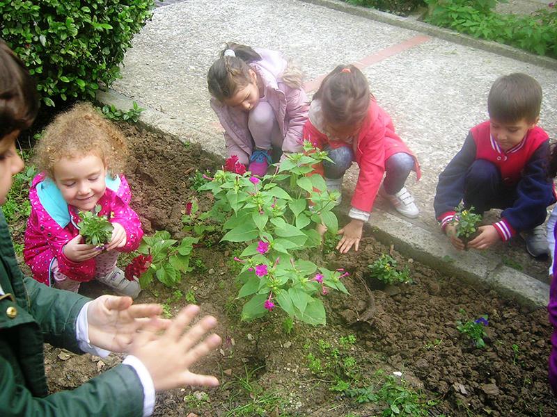 Bahçelerimiz ( 3000 m2 bahçe alanýnda )